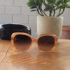 Miu Miu Oversized Sunglasses Brown Cognac